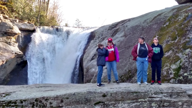 Family at Elk River Falls