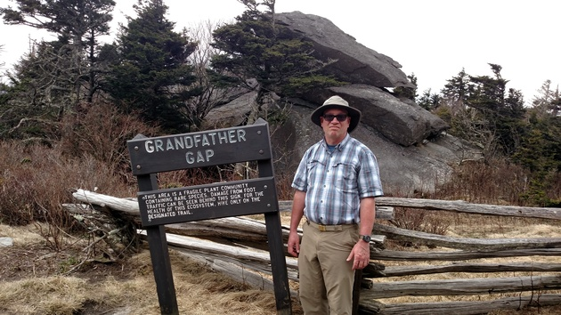 Dennis at Grandfather Gap