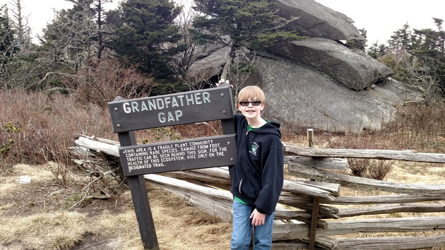 Nate at Grandfather Gap