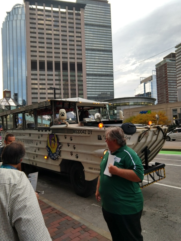 Our duck boat for the evening.