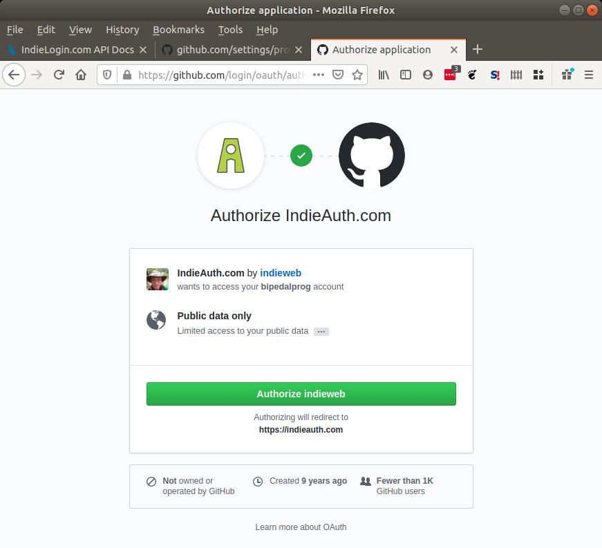 GitHub confirmation.
