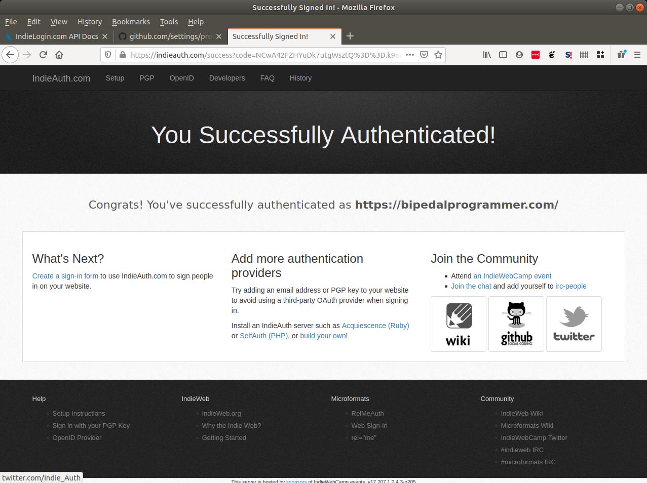 IndieAuth.com sucess!